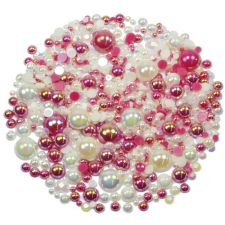 'RASPBERRY N CREAM' Theme Rhinestone and Pearl Embellishment Pack
